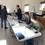 Nick Wentzell and volunteers testing water samples at BRWC/FOB facility